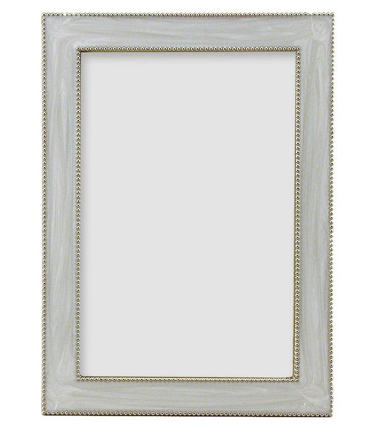 Beaded Frame, 4x6, White