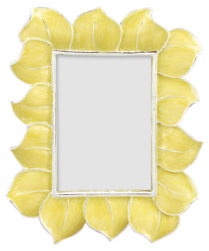 Hibiscus Frame, 2x3, Yellow