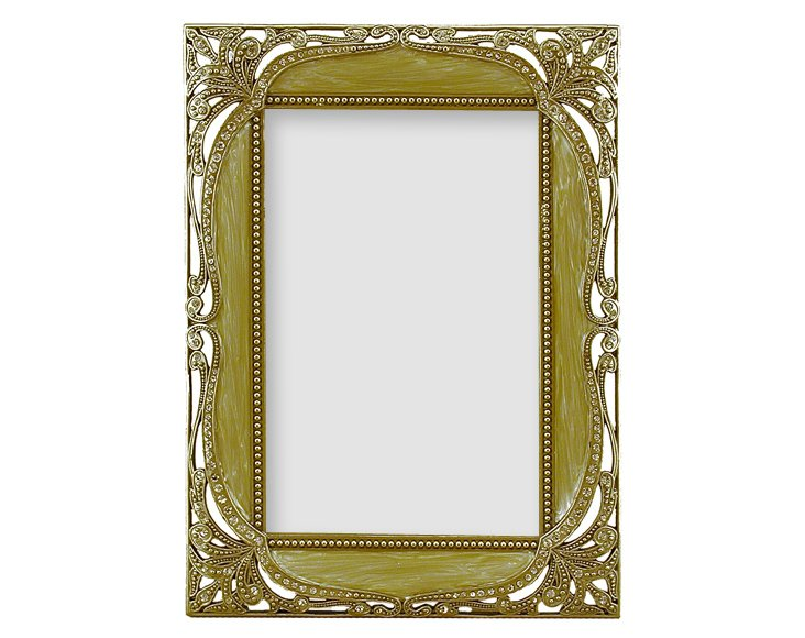 Baroque Frame, 4x6, Taupe