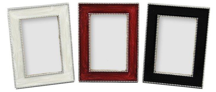 Beaded Trio Frames, 2x3