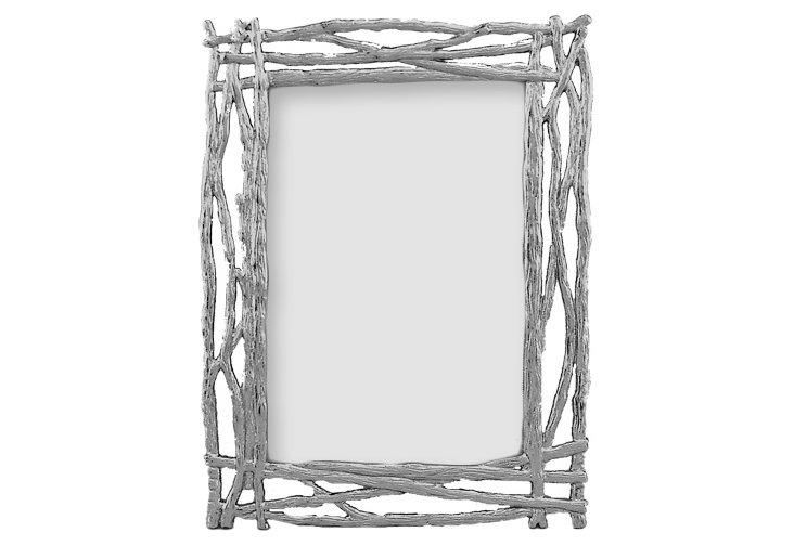 Twigs Frame, 4x6, Silver