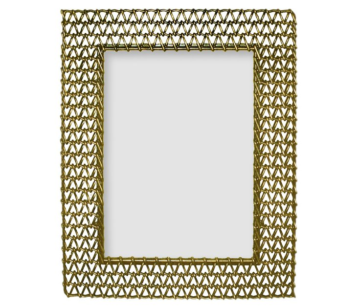 Chain Mail Frame, Brown, 5x7