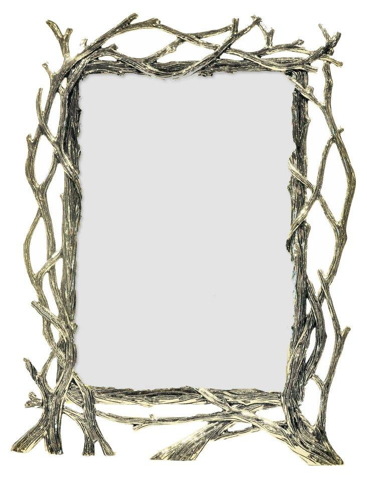 Bramble Frame, 4x6, Silver