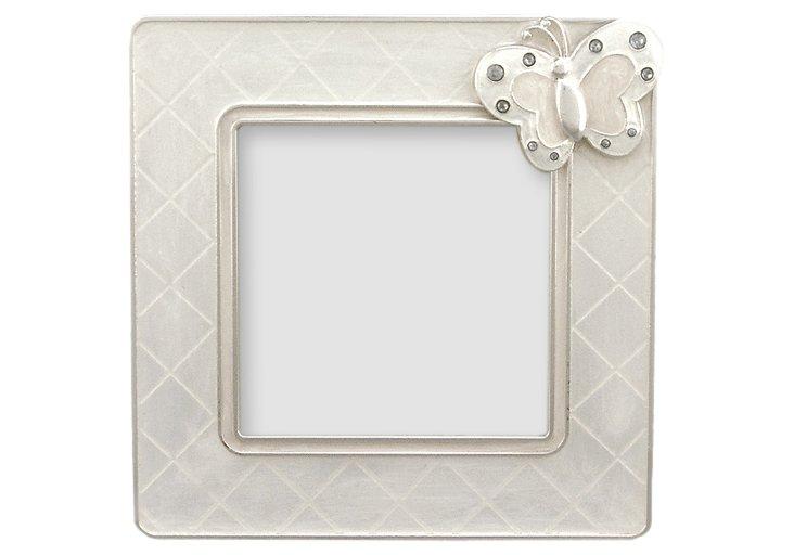 "Butterfly Delight Frame, White, 3"" x 3"""