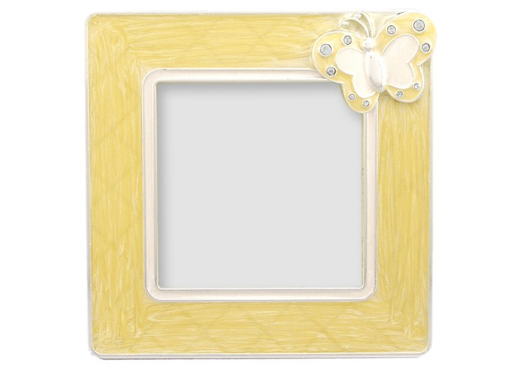 "Butterfly Delight Frame, Yellow, 3"" x 3"""