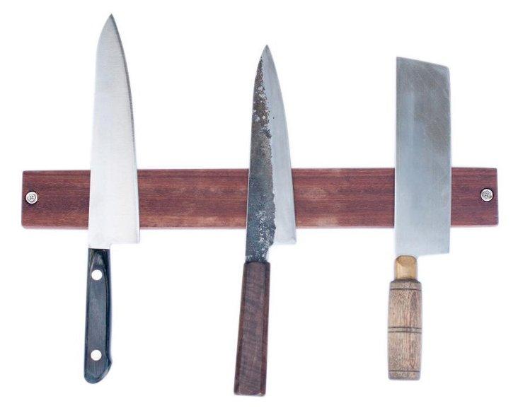 Magnetic Makore Knife Rack