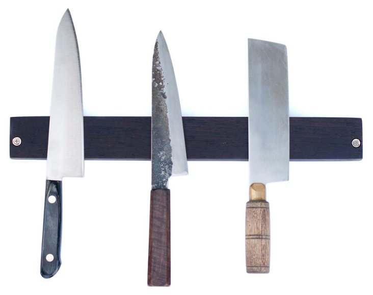 Magnetic Wenge Knife Rack
