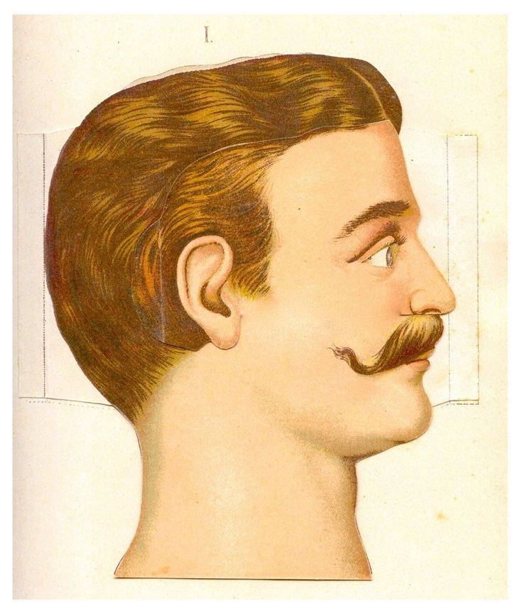The Moustache Framed Print