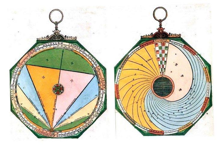 Sun Dial Diagram II Framed Print