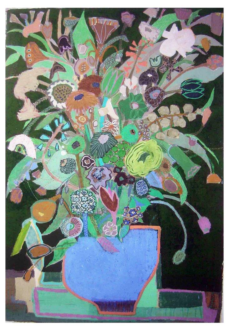 Liz Innvar, Wild Plants in Blue