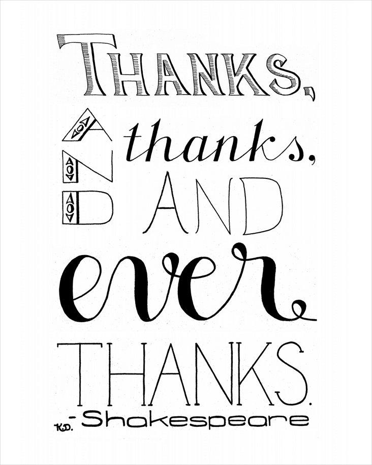 Katie Donovan, And Thanks Print