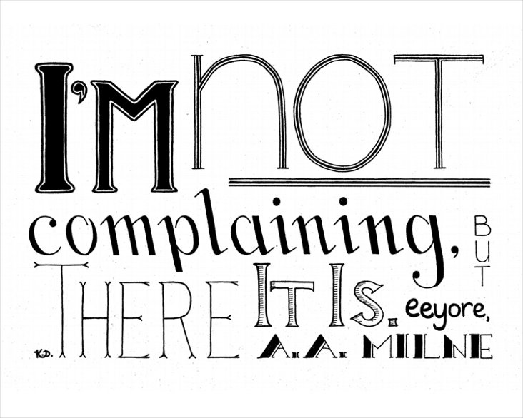 Katie Donovan, Complaining Canvas