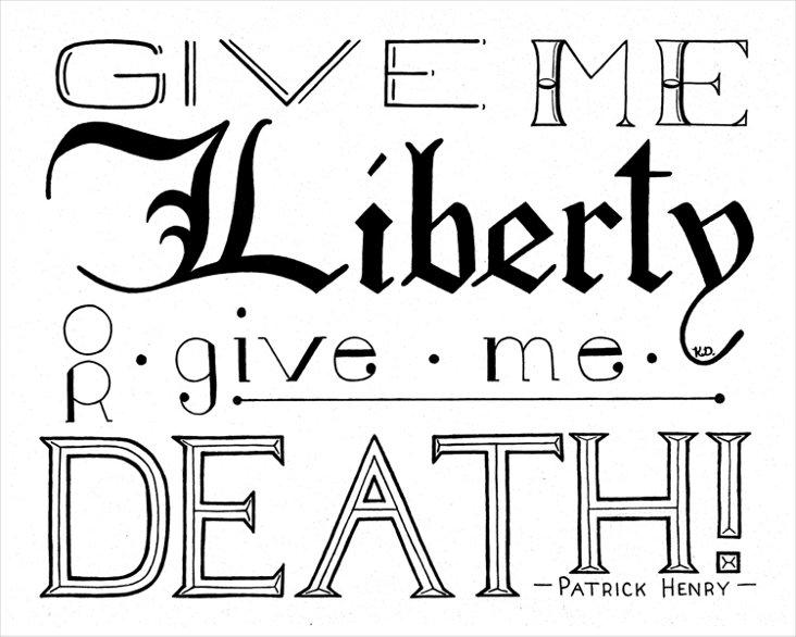 Katie Donovan, Liberty Or Death Canvas