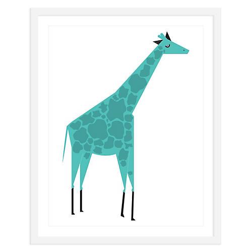 Giraffe Blue , Mini, ModernPOP