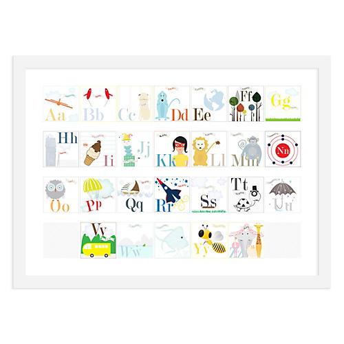 Alphabet Print Girl, Mini, ModernPOP