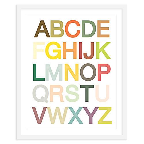 Alphabet Print, Mini, ModernPOP