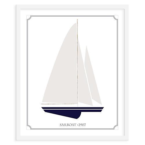 Sailboat Left, Mini, ModernPOP