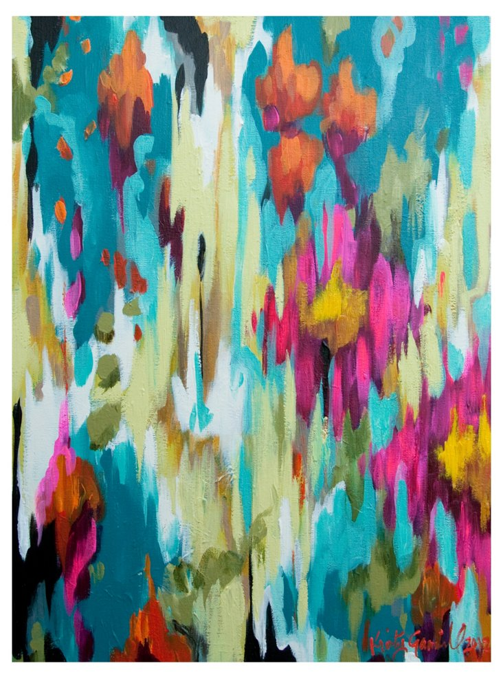 Gammill, Turquoise Abstract