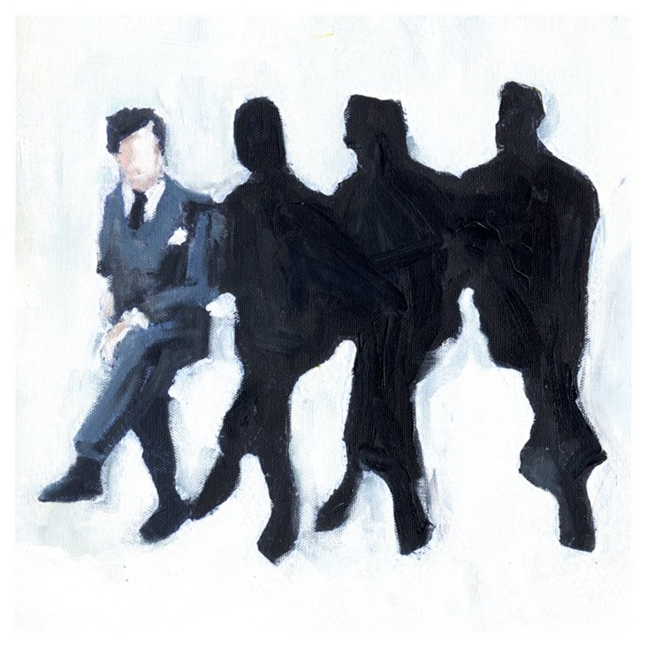 Lisa Golightly, Four Men on a Bench