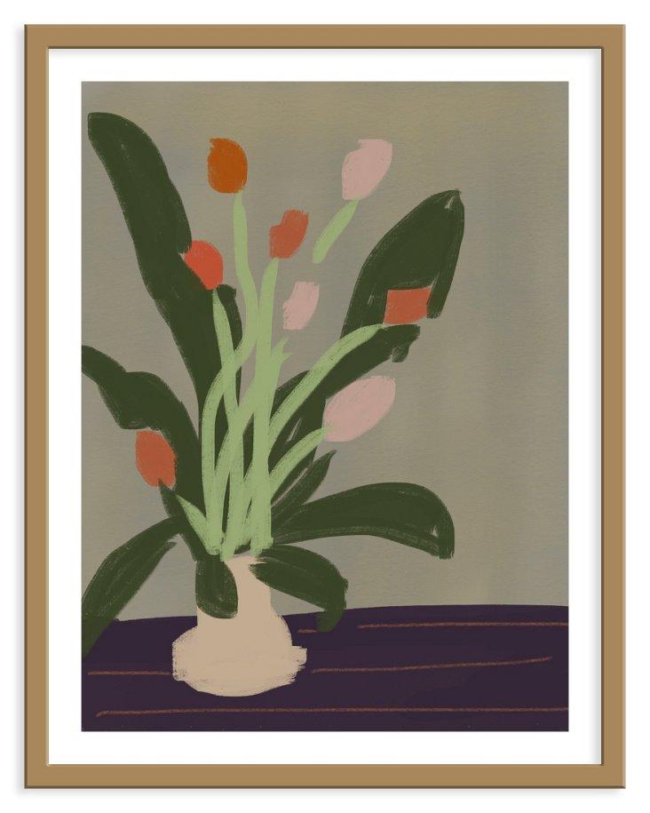 Liz Innvar, Orange Tulips
