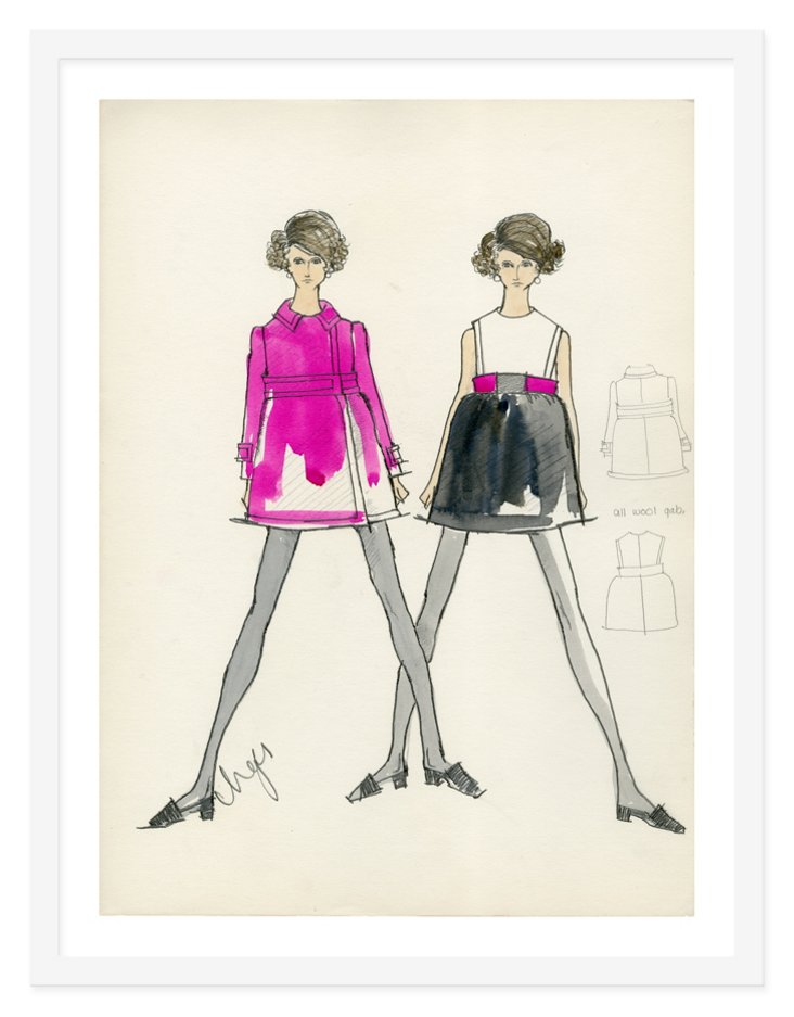 Kay Unger, Spring Coat and Dress