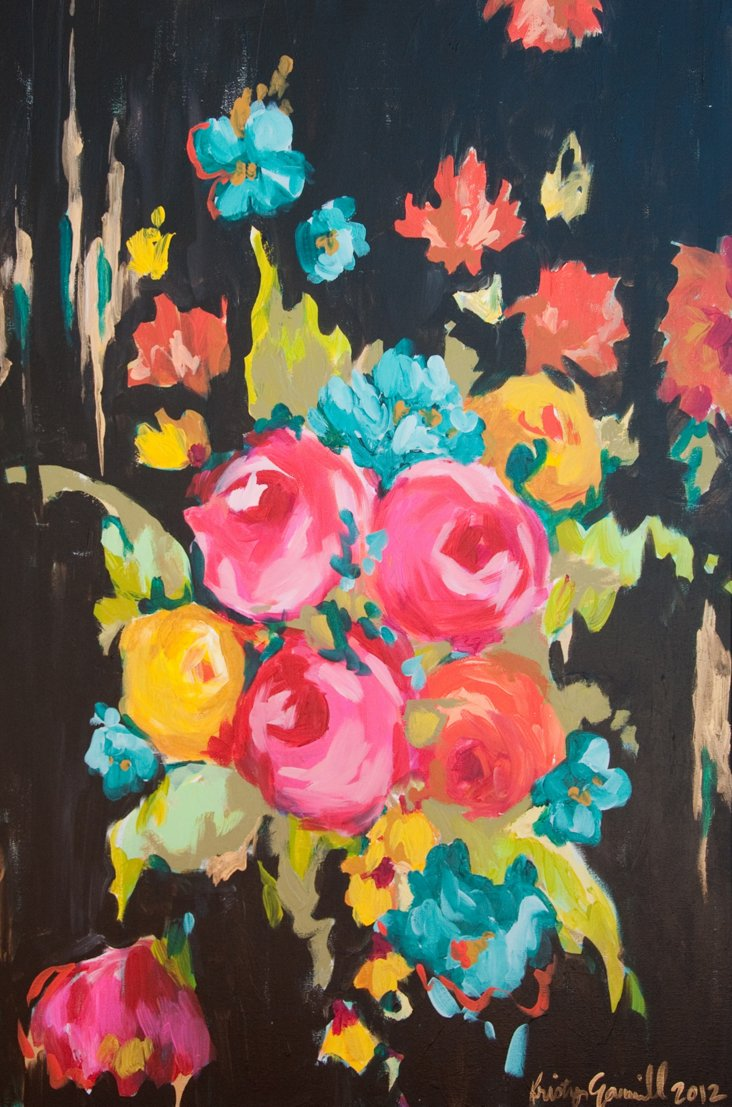 Kristy Gammill, Floral on Black
