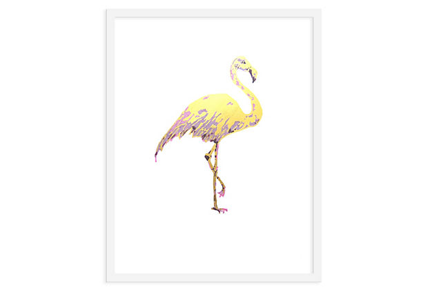 Jennifer Latimer, Flamingo print painting