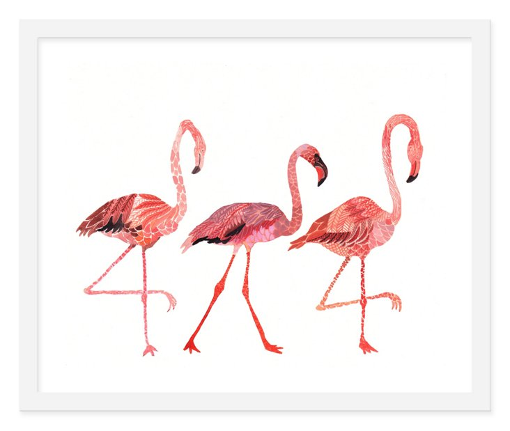 Michelle Morin, Flamingo Pillow