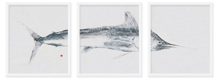 East End Fish, White Marlin Triptych
