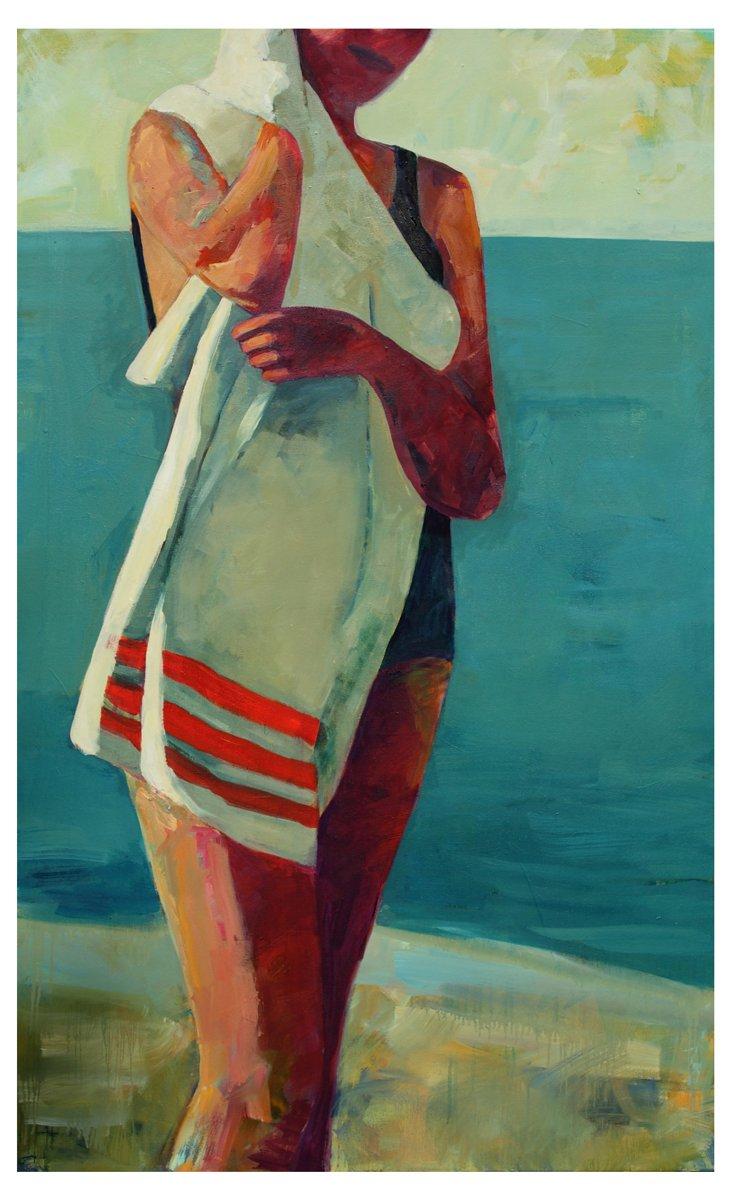 T.S. Harris, Striped Beach Towel