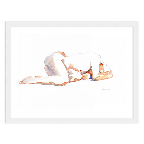 Helen Strom, Woman Curled Up