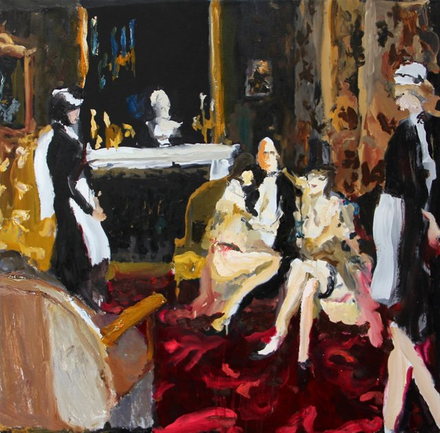 Bradley Wood, Lounging with Maids