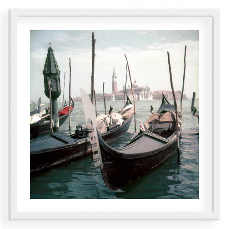 Slim Aarons, Venice Gondolas
