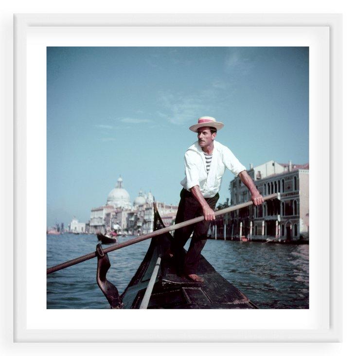 Slim Aarons, Venice Gondolier