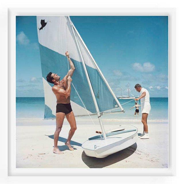 Slim Aarons, Boating In Antigua
