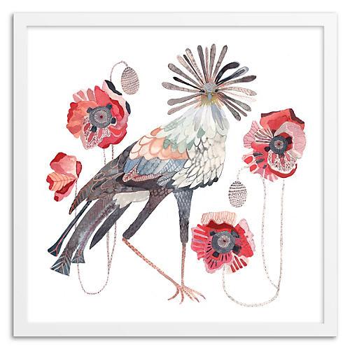 Secretary Birds & Poppies, Michelle Morin