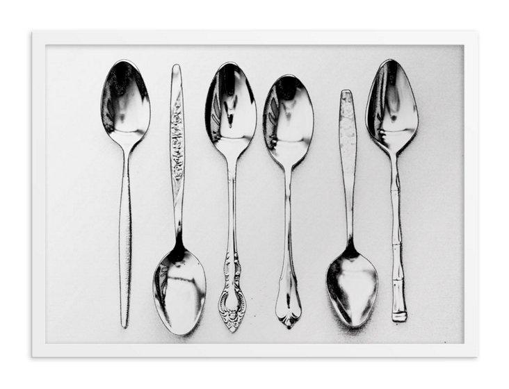 Vintage Spoons Printed Mirror, Small