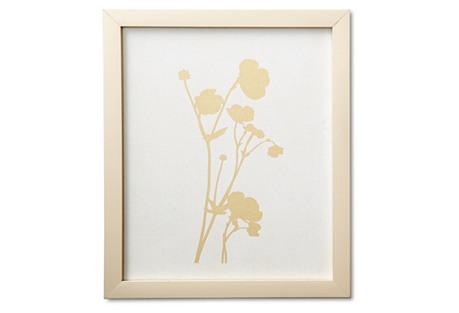 Plant Study III - Linen/Gold