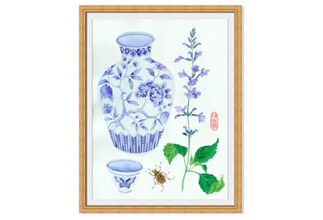 Gabby Malpas, Vase & Salvia