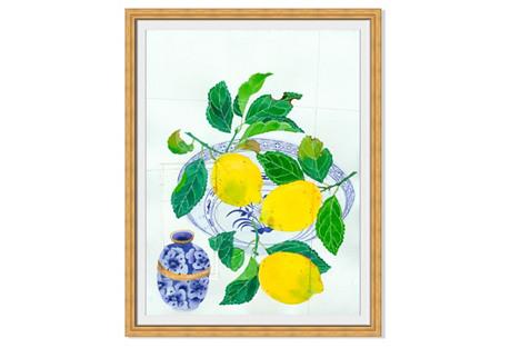 Gabby Malpas, Lemons on a Plate