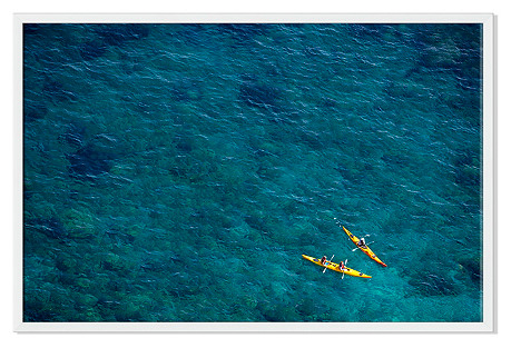 Judith Gigliotti, Yellow Kayaks in Aqua