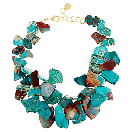 Serpentine Turquoise Chunky Necklace