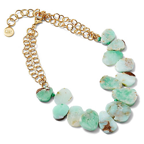 Short Chrysocolla Strand Necklace