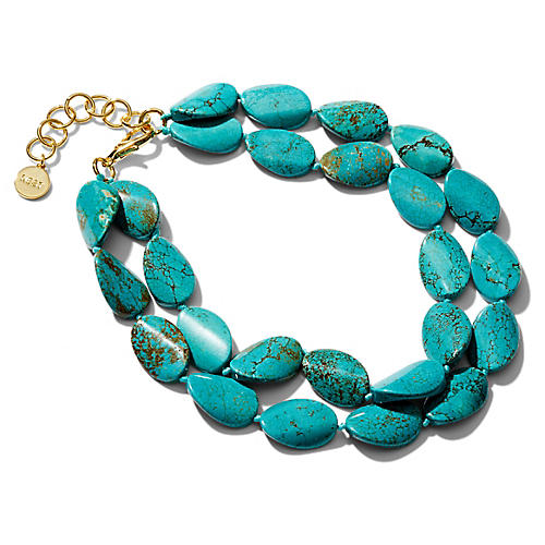 Turquoise Multistrand Necklace, Blue/Green