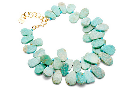 Cluster Necklace, Amazonite