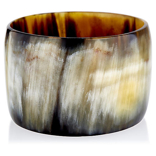 Wide Horn Bangle