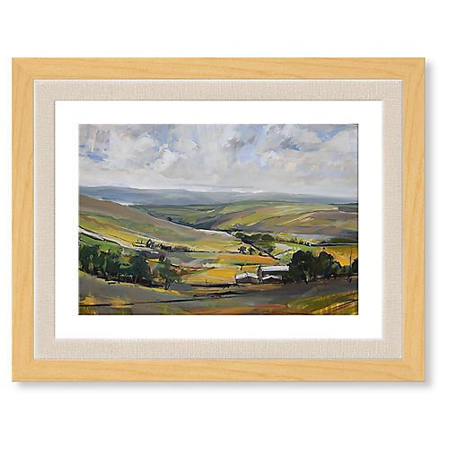 Pennine Landscape Near Pendle, David Pott