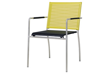 Natun Stacking Armchair,  Lime/Black