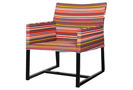 Stripe Casual Chair, Multi