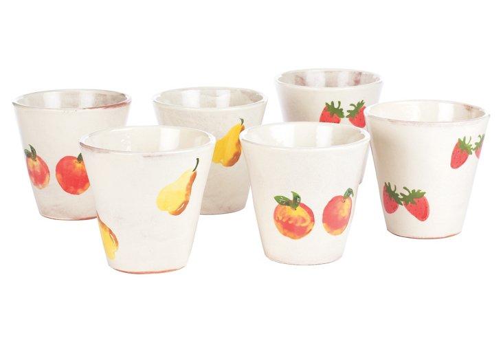 S/6 Fruit Pots
